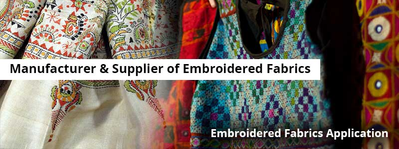 Embroidered Fabrics Manufacturer & Supplier