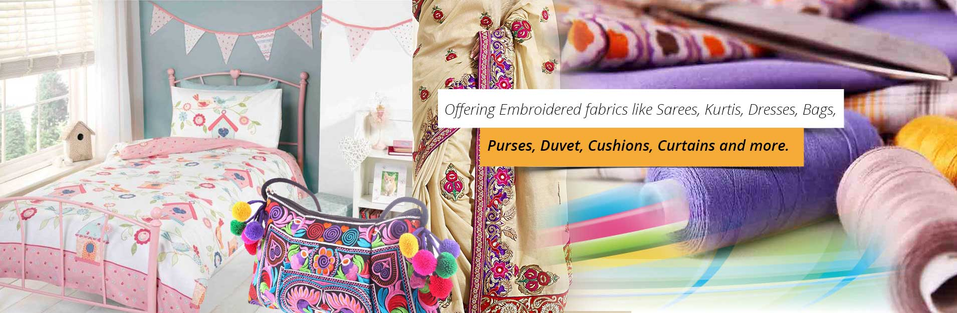 Embroidered Fabric Manufacturers and Exporters